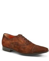Zapatos oxford de ante marrónes de Santoni