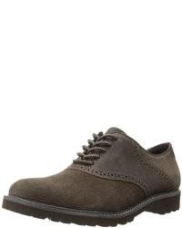 Zapatos oxford de ante verde oliva