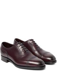 Zapatos oxford de cuero burdeos de Edward Green