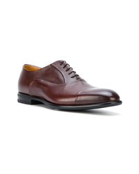 Zapatos oxford de cuero burdeos de Fabi