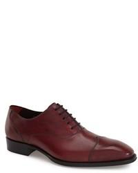Zapatos oxford de cuero burdeos de Mezlan