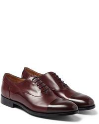 Zapatos oxford de cuero burdeos de Paul Smith