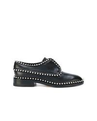 Zapatos oxford de cuero con adornos negros de Alexander Wang