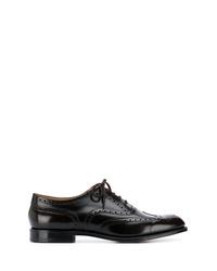 Zapatos oxford de cuero en marrón oscuro de Church's