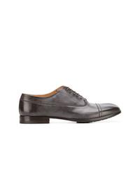 Zapatos oxford de cuero en marrón oscuro de Maison Margiela