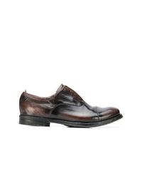 Zapatos oxford de cuero en marrón oscuro de Officine Creative
