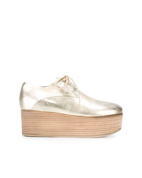 Zapatos oxford de cuero gruesos dorados de Marsèll