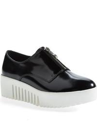 Zapatos Oxford de Cuero Gruesos Negros de Opening Ceremony
