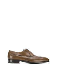 Zapatos oxford de cuero marrónes de a. testoni