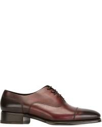 Zapatos oxford de cuero marrónes de DSQUARED2