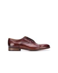 Zapatos oxford de cuero marrónes de Pantanetti