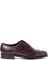Zapatos oxford de cuero morado oscuro de Edward Green