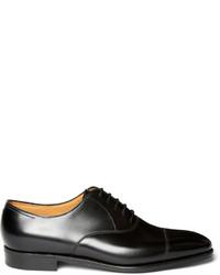 Zapatos oxford de cuero negros de John Lobb