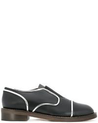 Zapatos oxford de cuero negros de Marni