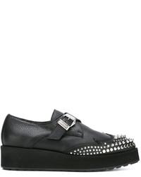 Zapatos oxford de cuero negros de MCQ