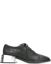 Zapatos Oxford de Cuero Negros de MM6 MAISON MARGIELA