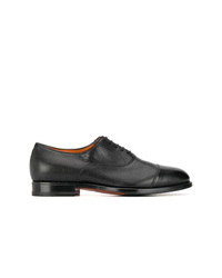Zapatos oxford de cuero negros de Santoni