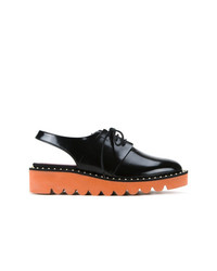 Zapatos oxford de cuero negros de Stella McCartney