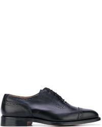 Zapatos oxford de cuero negros de Tricker's