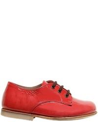 Zapatos oxford de cuero rojos de Pépé