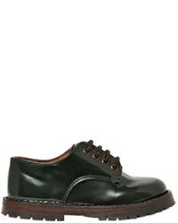 Zapatos oxford de cuero verde oscuro de Pépé