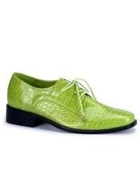 Zapatos oxford de cuero verdes